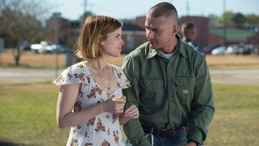 Shia LaBeouf and Kate Mara in <i>Man Down</i>.