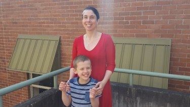 Natalie Pollard, mother of Ethan, 7, who has autism and is a participant in the Brain and Mind Centre's trial.