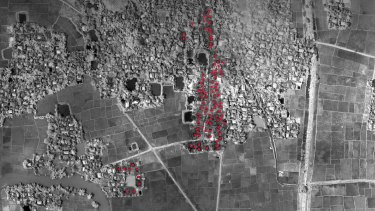 At least 96 buildings were destroyed in Sin Oe Pyin village, Myanmar on September 8, according to HRW.