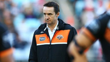 Challenging time: Wests Tigers coach Jason Taylor.