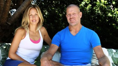 "Lululemon founder Dennis ""Chip"" Wilson with his wife, Shannon, at their Bronte home: ""Lululemon became a teenager who wants its own way of doing things,"" he said. ""It still wants me, but it doesn't want me."""