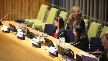 Olivia took her message to the United Nations, speaking at the United Nations World Down Syndrome Day Conference in March.