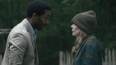 Henry Deaver and Sissy Spacek in Castle Rock.