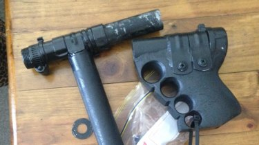 A home-made ''slam gun'' was among several firearms seized from three properties in 2015.
