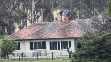 Detectives and police searched Mathew Dunbar's property, Pandora, near Walcha, after deeming his death 'suspicious'.
