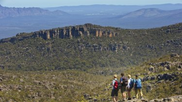 The Grampians Peaks Trail will run the full length north-south of the Grampians National Park.
