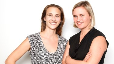 Zoe Pointon (R) and Marta Higuera, co-founders of OpenAgent.