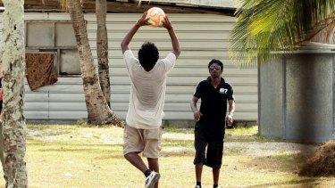 Asylum seekers on Nauru.