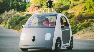 Google's driverless car could be one way goods are delivered in the future, MYOB says.
