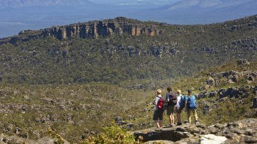 The girl fell six metres down an embankment while on a school camp at the Grampians.