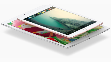The new 9.7-inch iPad Pro next to the original 12.9-inch model