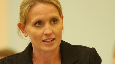 MP Kate Jones speaks during Question Time at Queensland Parliament.