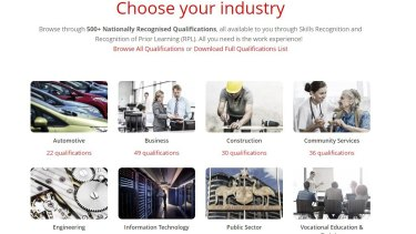 Get Qualified Australia offered a range of qualifications for the Skills Recognition and Recognition of Prior Learning scheme.