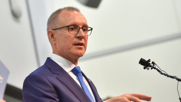 South Australian Premier Jay Weatherill outlines the new energy supply strategy on Tuesday.