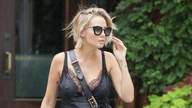 Lara Worthington is seen walking in Soho on July 14, 2016 in New York City.