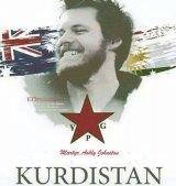 A poster of Mr Johnston, describing him as a martyr.