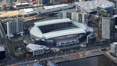 Pegged for revamp: Etihad Stadium at the Docklands.