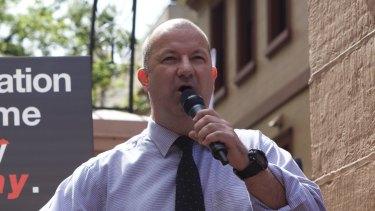 Unions NSW secretary Mark Morey.