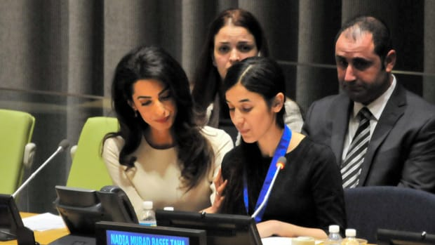 Amal Clooney and Nadia Murad take IS to court
