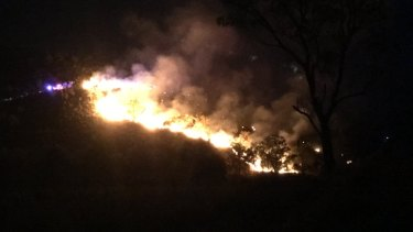 The fire boasts flames up to six metres high.