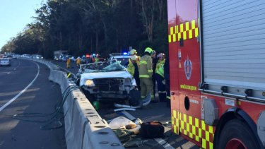The driver of the ute, who was the only person in the vehicle, died in the crash.