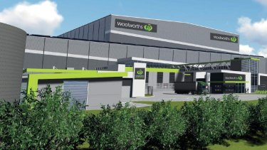 An artist's impression of Woolworths new distribution centre in Dandenong South.
