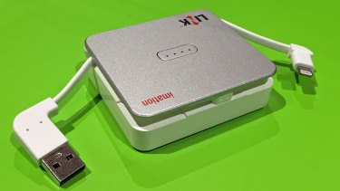 Imation's Link Power Drive keeps iPhones charged, backed up and ready to entertain.