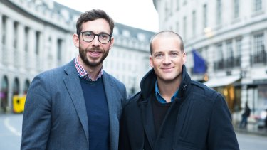 Anthony Svirskis, chief executive of Tribe and founder Jules Lund in London.