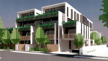 An artist's impression of 31 planned apartments at 27-29 Bent Street, Bentleigh.