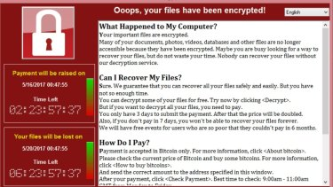 The ransom screen for WannaCry could still hit users on unpatched systems.