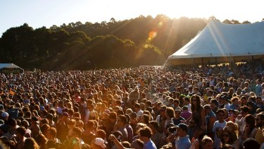 A teenager has reported a sexual assault in the mosh pit at Falls Festival in Marion Bay, Tasmania.