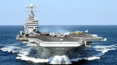 Sailors from the USS George Washington are expected to provide a boost to the Queensland economy during their visit.