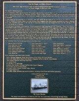 The plaque commemorating the Bangka Island Massacre.