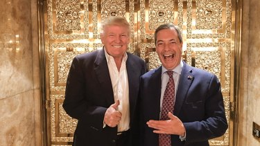 Donald Trump and Nigel Farage: sidestepping protocol, Trump recommended his buddy as UK ambassador to Washington.