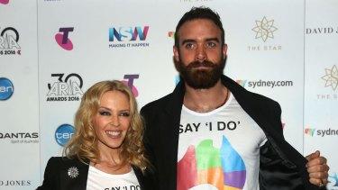 Splitsville: Kylie Minogue and Joshua Sasse.