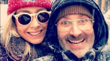 Josh Gaudry and wife Anoushka Szlagowska in New York.