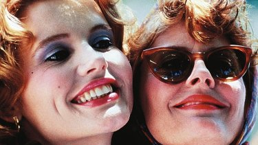 Geena Davis and Susan Sarandon in