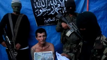 Rodwell during his captivity in 2012, in a video released by the Abu Sayyaf Islamists.