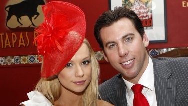 Grant Hackett and Candice Alley split in May 2012.