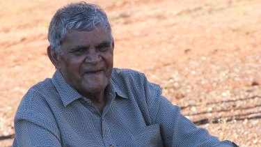 Aubrey Lynch, an elder from the Wongatha Aboriginal language group, who participated in the study.