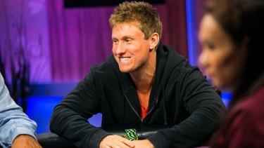 """Poker player """"Aussie"""" Matthew Kirk."""