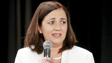 """It's """"always possible to make slip ups"""": Mr Shorten defends Queensland Labor leader Annastacia Palaszczuk on her GST gaffe."""