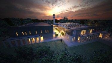 Artist impression of proposed mosque in Bendigo
