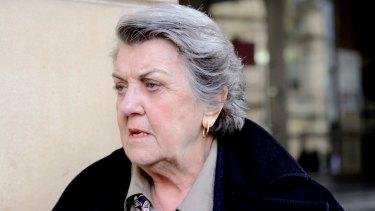 Maggie Kirkpatrick outside court.