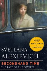 <i>Secondhand Time</i> by Svetlana Alexievich.