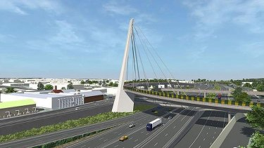 An artist's impression of stage one of the East West Link.