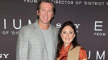 Expecting: Glenn McGrath and Sara Leonardi-McGrath.