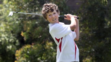 Prodigy: A 12-year-old Heaton at the Illawarra Academy of Sport.