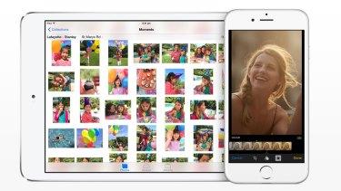 Apple iOS 8's new Photos app.