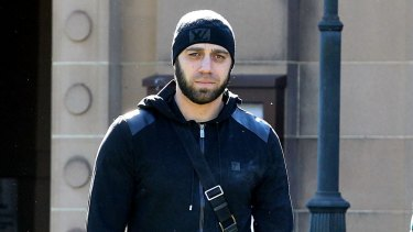 Former Brothers for life member Alex Ali, who was shot three times in 2012, appearing at NSW Supreme Court.
